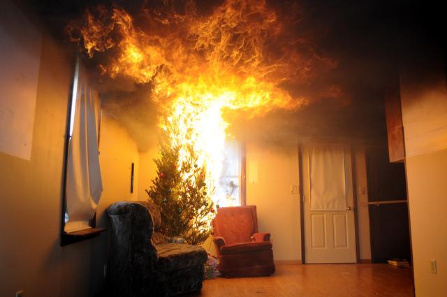 christmas tree fire